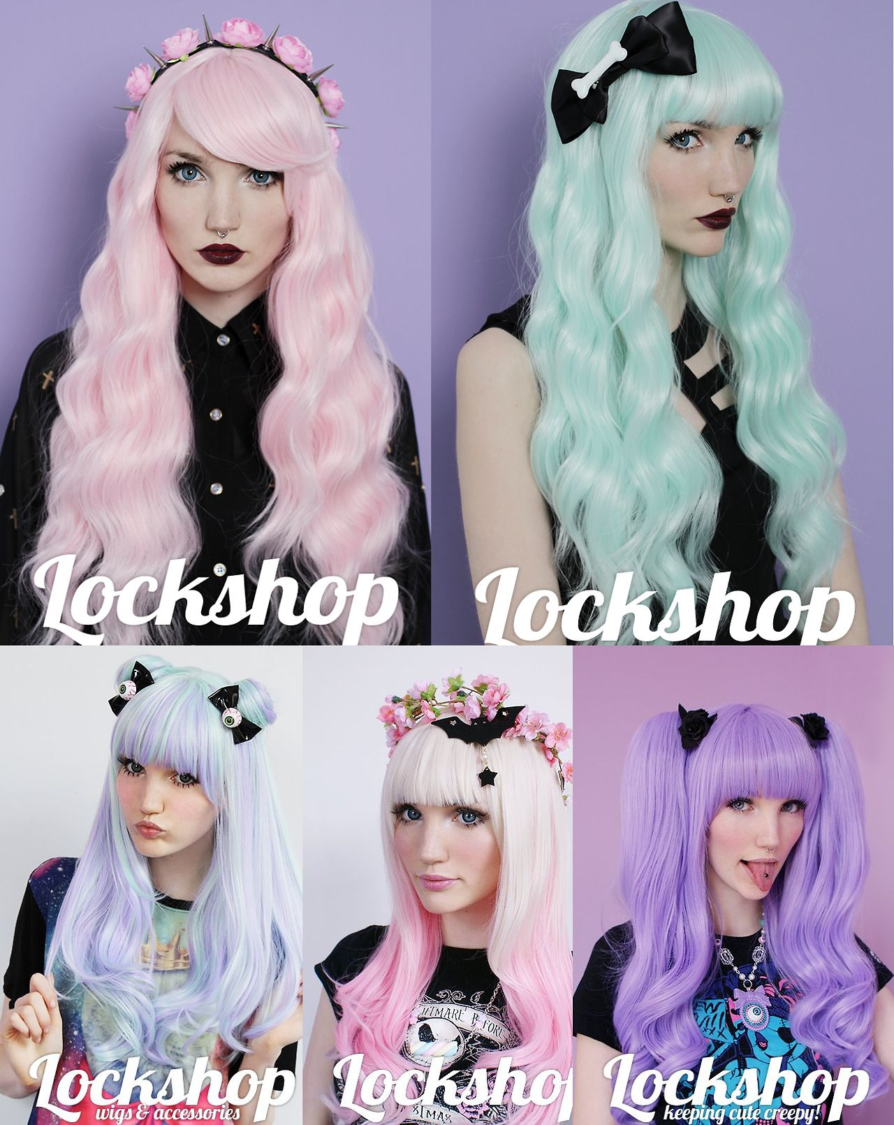 Pastel Goth Princess She S So Pretty Lockshopwigs Com Goth Hair Pastel Goth Hair Kawaii Wigs