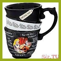 Disney Parks Exclusive Alice in Wonderland Triple Stack Quotes Ceramic Cup Mug d... #disneycups