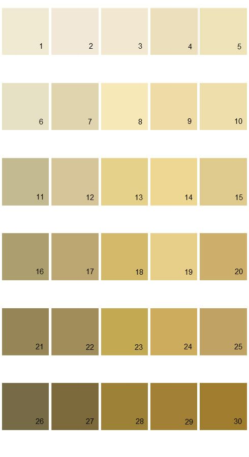 Pratt And Lambert Calibrated House Paint Colors - Palette 18 # 7 is ...