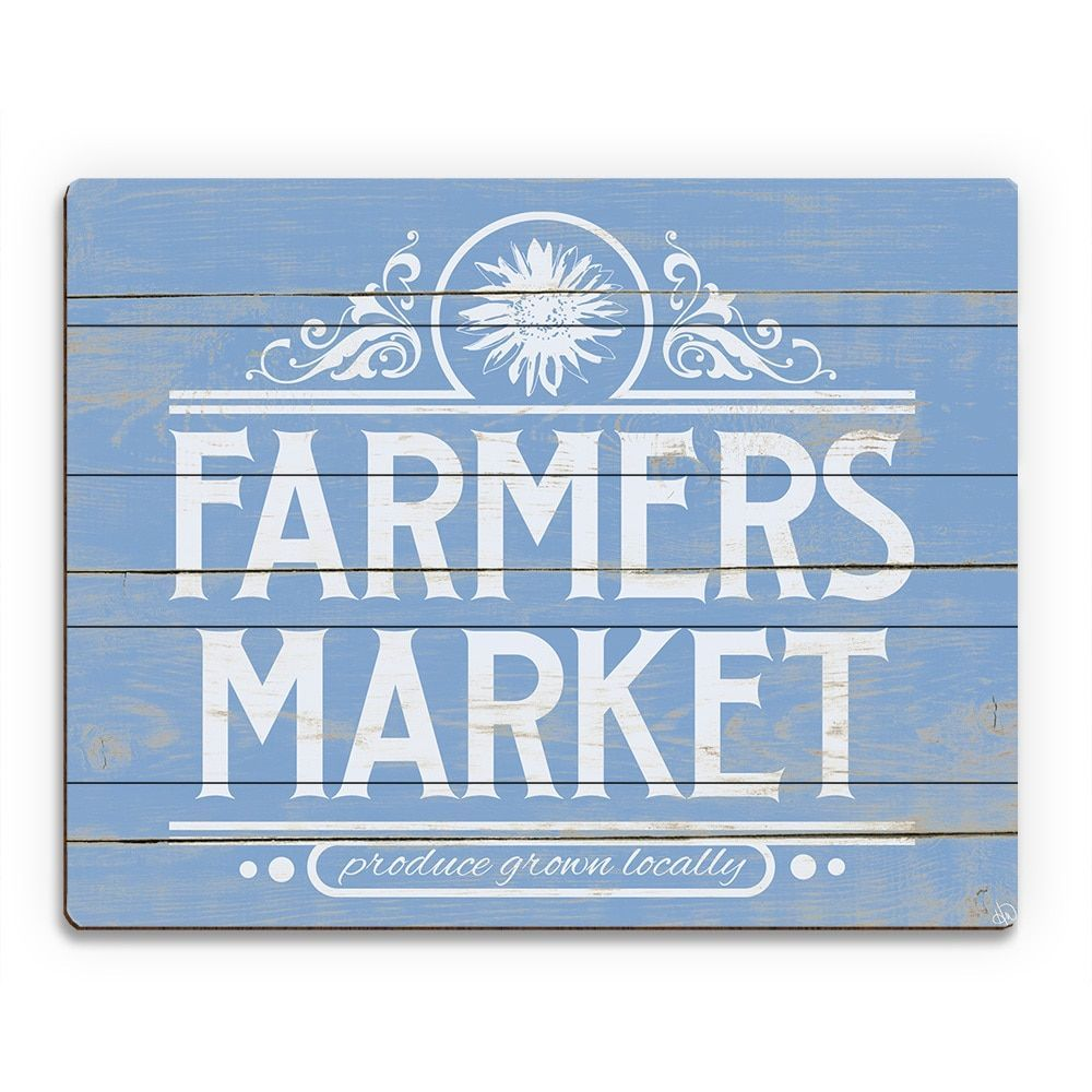 Horizon farmers market sign wood wall art products pinterest