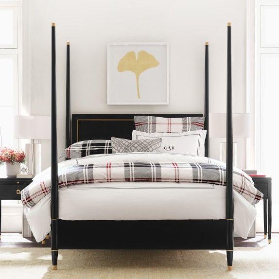 Bed, Bedroom Furniture, Plaid Bedding