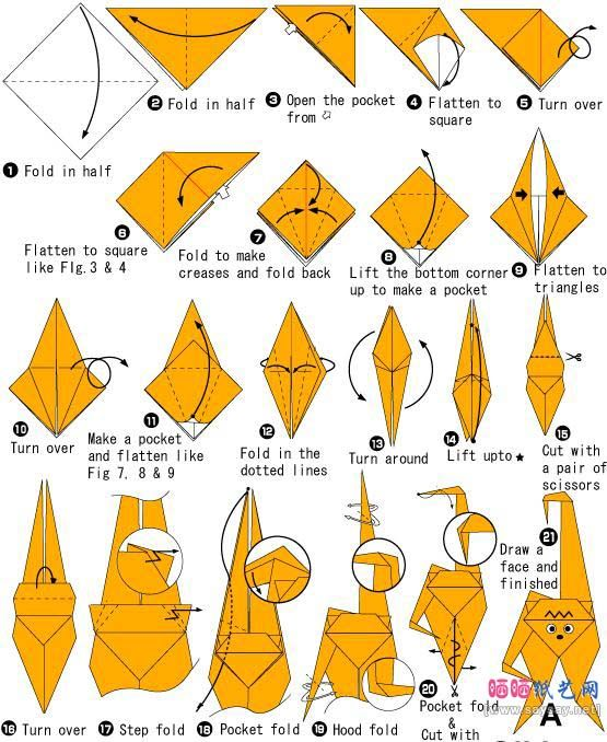 origami monkey - Google Search | You gotta know when to ... - photo#2