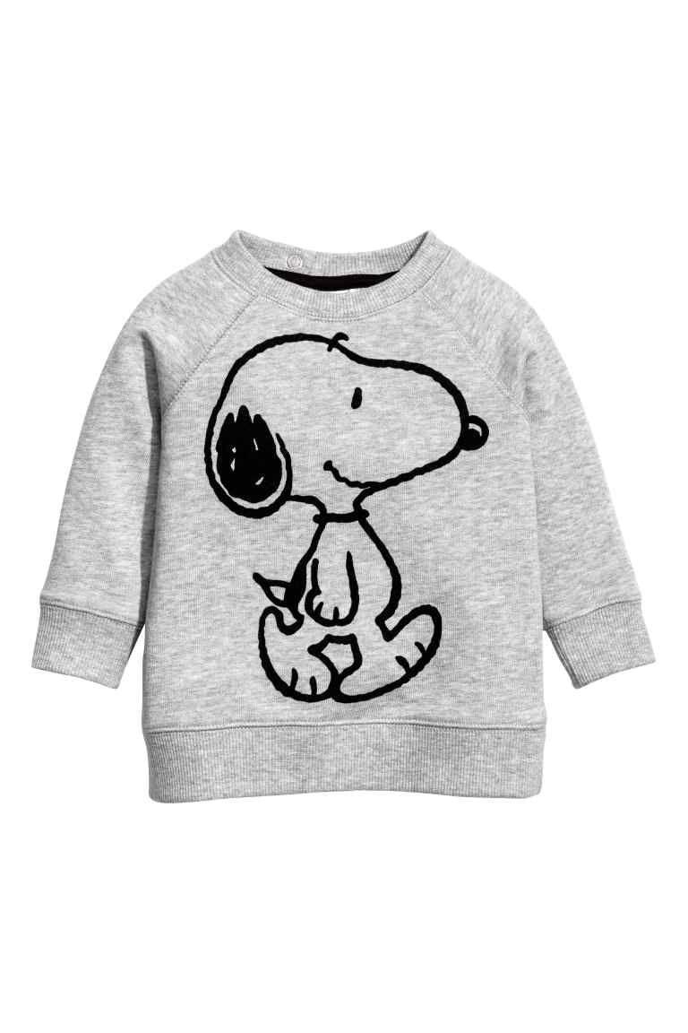 454fb257e47 Sudadera con motivo estampado - Grey Snoopy - NIÑOS
