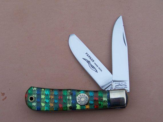 Parker Cutlery Co Vintage 2 Blade Trapper Knife