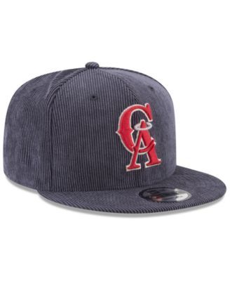 newest 0a4ad fb21c New Era Los Angeles Angels All Cooperstown Corduroy 9FIFTY Snapback Cap -  Blue Adjustable
