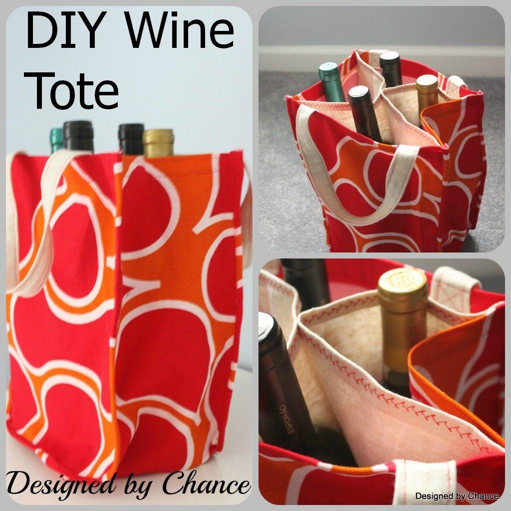 Designed By Chance Diy Wine Tote Aka Booze Bag Tutorial Wine Gifts Diy Wine Bag Diy Wine Bag Pattern