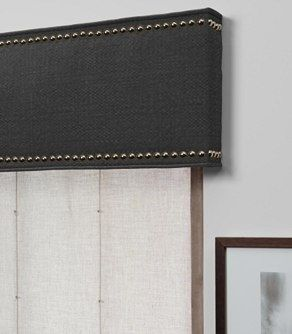 Contemporary Cornice Gray Source Http Www Theshadestore Com Product2 Cornice With Nailheads