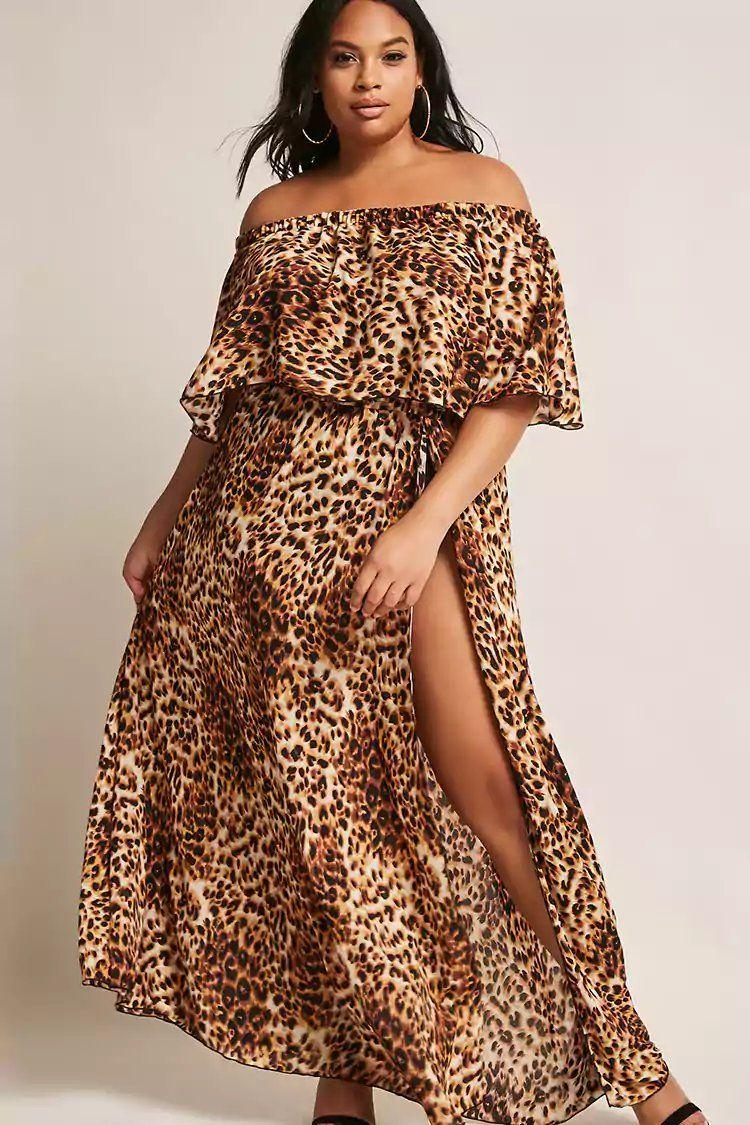 5e8a36db10a2 Product Name:Plus Size ETA Cheetah Print Maxi Dress,  Category:CLEARANCE_ZERO, Price:48