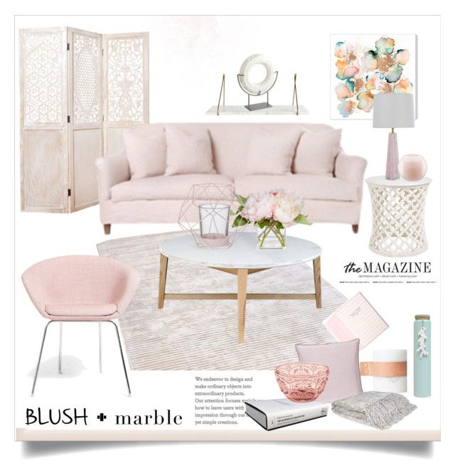 """""""Blush & Marble"""" by rever-de-paris ❤ liked on Polyvore featuring interior, interiors, interior design, home, home decor, interior decorating, Abigails, Global Views, Rove Concepts and Surya"""
