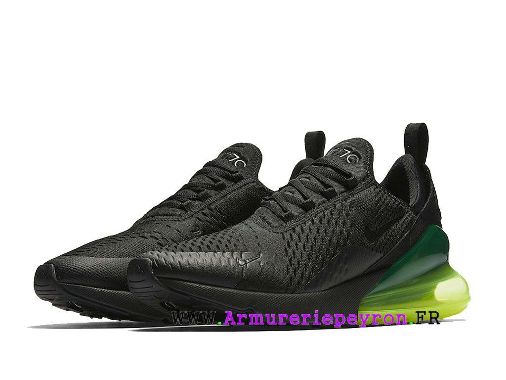 finest selection c0020 aa13d Vert noir Nike Air Max 270 Chaussure de course Pas Cher Prix Homme ah8050- 011