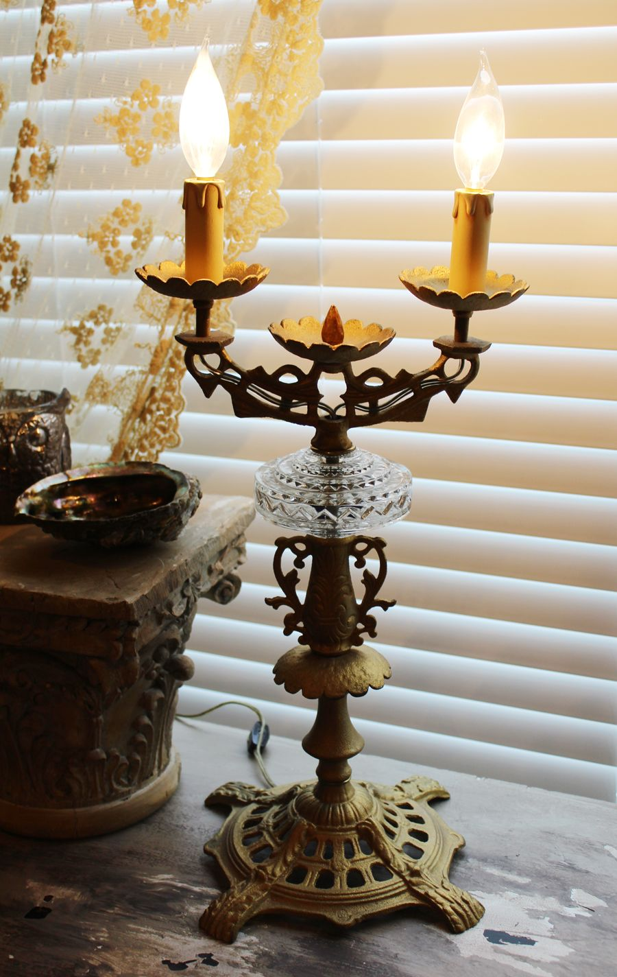 Antique 2 arm electrical candelabra girandole amdanlar chandeliers mirrors art handbags jewels and eclectic finds for todays chic home mozeypictures Gallery
