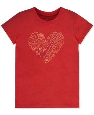 186d8f580 Nike Heart Graphic-Print T-Shirt, Toddler & Little Girls (2T-6X) - Red 2T