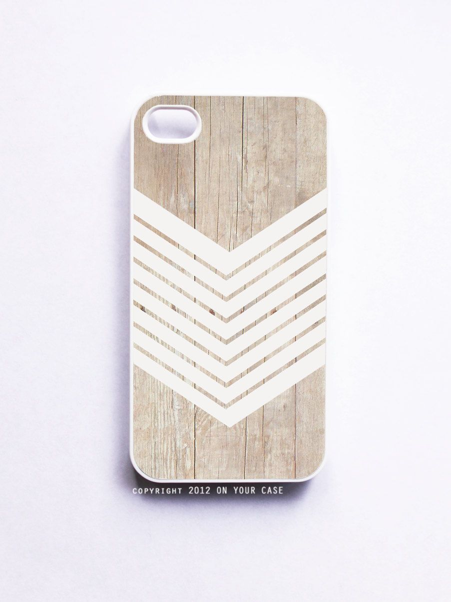 iPhone 4 Case Wood Geometric White Minimalist. $16.99, via Etsy.