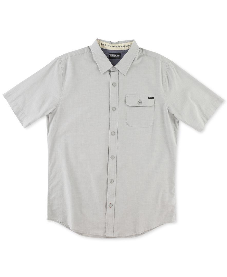O'Neill Men's Emporium Solid Short-Sleeve Shirt