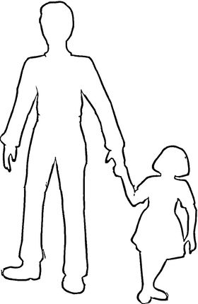 Dad With Daughter Outline Coloring Page Father S Day Drawings Mother Daughter Art Mom Art