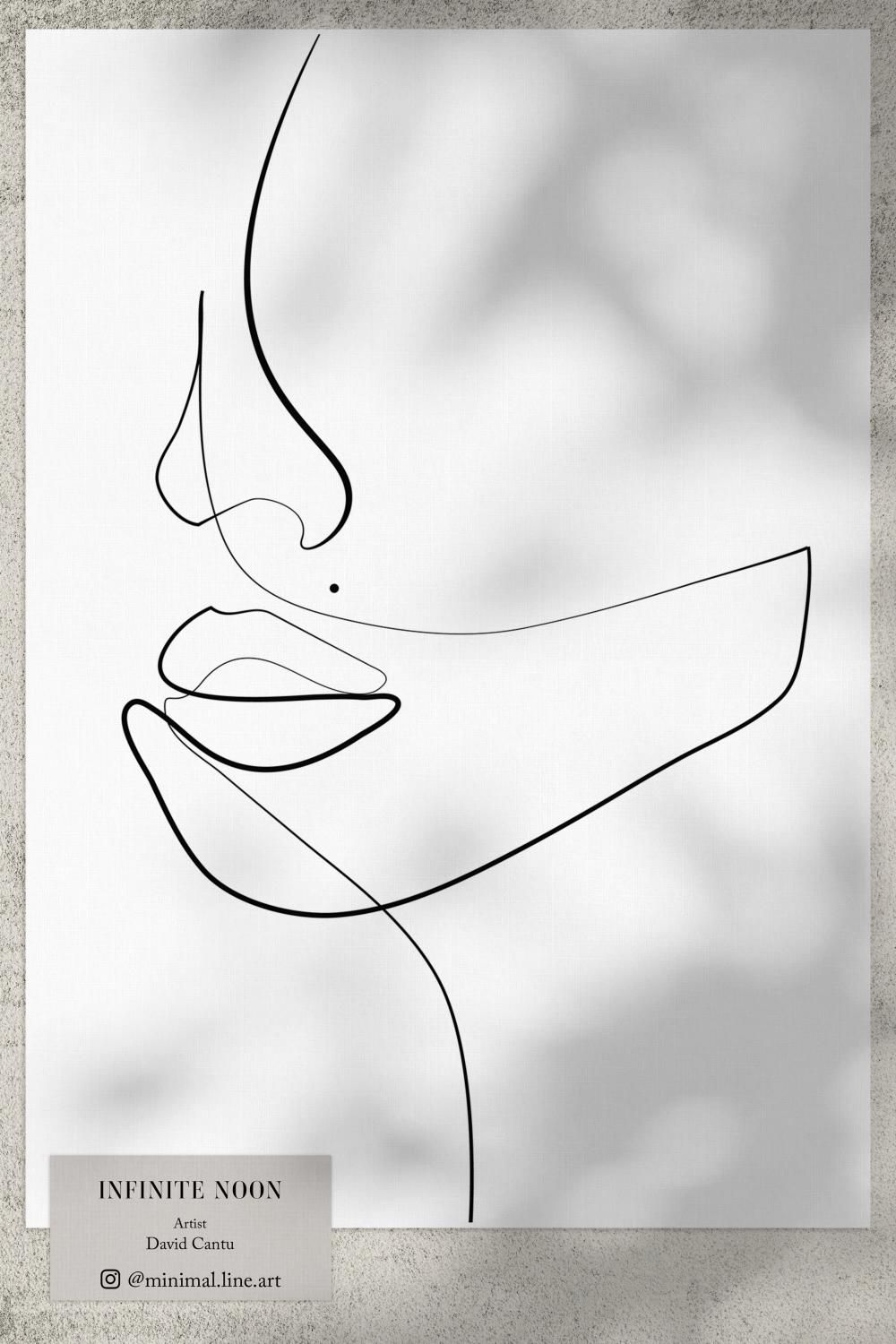 Photo of One Line Face Drawing Art Print | Abstract Wall Art