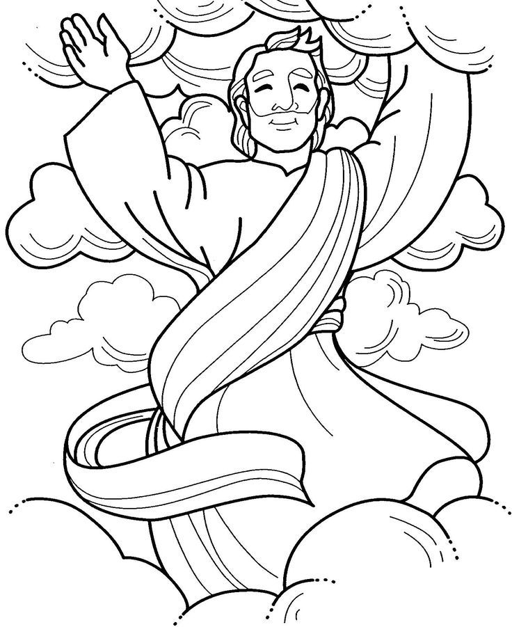 Image result for jesus' ascension into heaven coloring