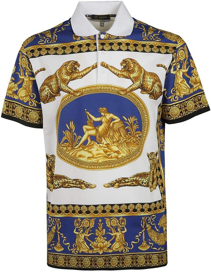 Versace Printed Polo Shirt   Products in 2019   Printed polo shirts ... a9a97e8bd0e