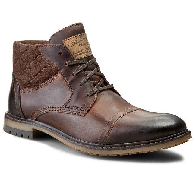 Trzewiki Lasocki For Men Mb Luther 15 04 Brazowy Ciemny Combat Boots Men Luther