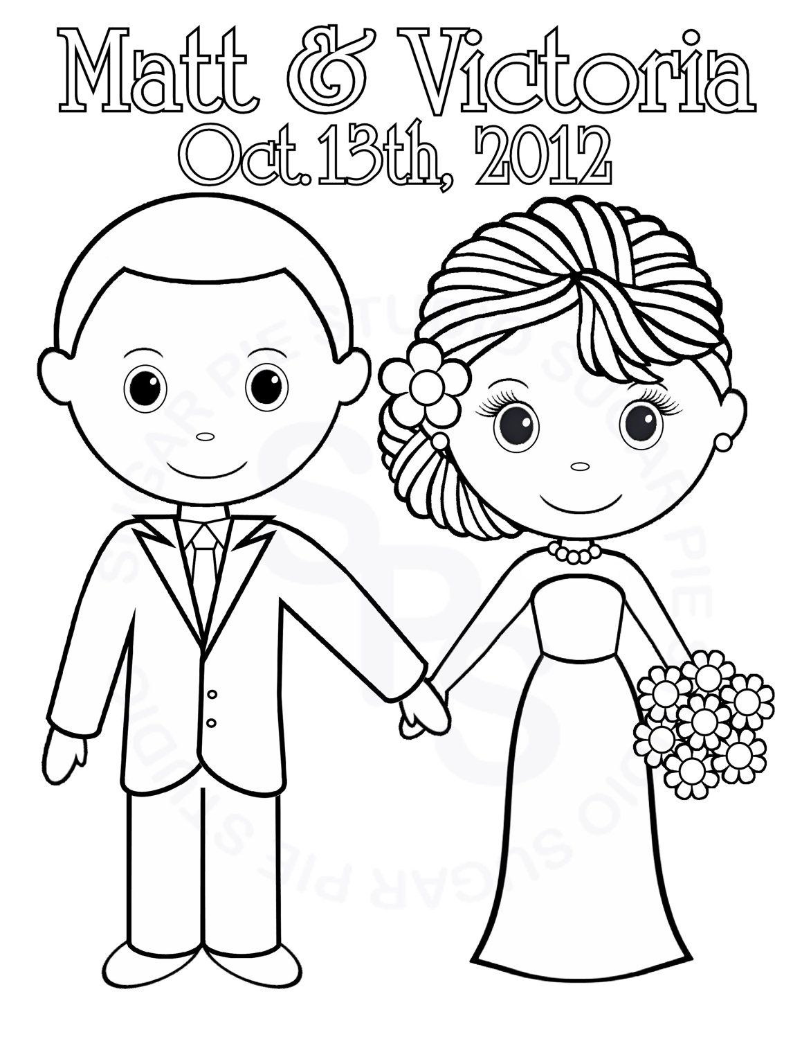 Wedding Color Pages Coloring Pictures Imagixs