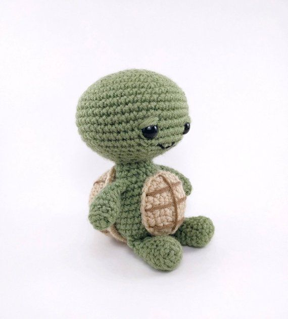 PATTERN: Tommy the Turtle - Crochet turtle pattern - amigurumi turtle - crocheted turtle pattern - PDF crochet pattern #crochetturtles
