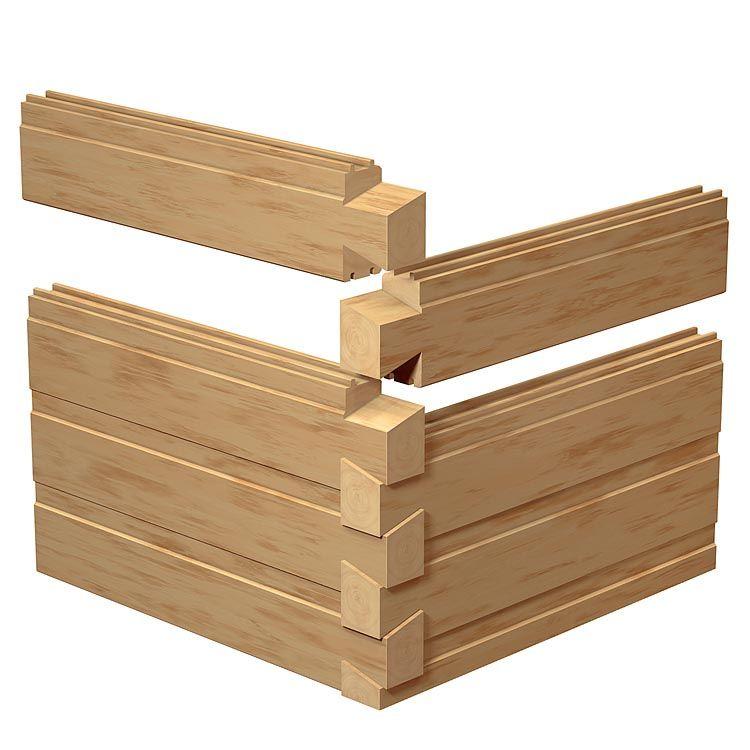 Merveilleux Exterior #LogHome Profile Options   Southland Dovetail Chink Groove Corner. Log  Cabin KitsLog ...