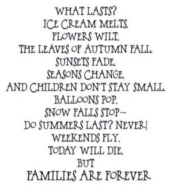 Families are forever poem primary pinterest for Family quotes lds
