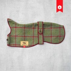 Our Yorkshire Tweed Sighthound Overcoat is a beautiful dog jacket with classic British styling. Lined with moleskin. Perfect for greyhounds and whippets.