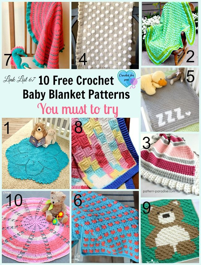 This Weeks Link List Filled With Lovely Baby Blankets With Great