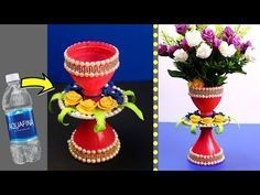plastic bottle craft idea - plastic bottle reuse idea - best out of waste plastic bottle flower vase - YouTube #plasticbottleart plastic bottle craft idea - plastic bottle reuse idea - best out of waste plastic bottle flower vase - YouTube #plasticbottleart