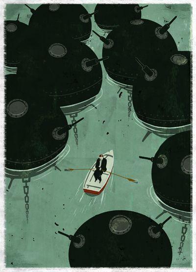 Emiliano Ponzi Award Winning Illustrator Online Portfolio Boat Illustration Illustration Print Illustration Design