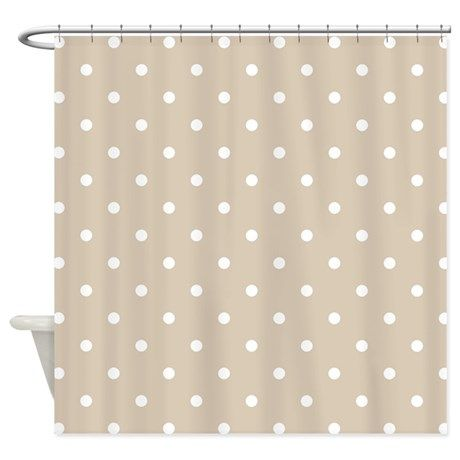 Brown Beige Polka Dots Pattern S Shower Curtain By 13 Tactical