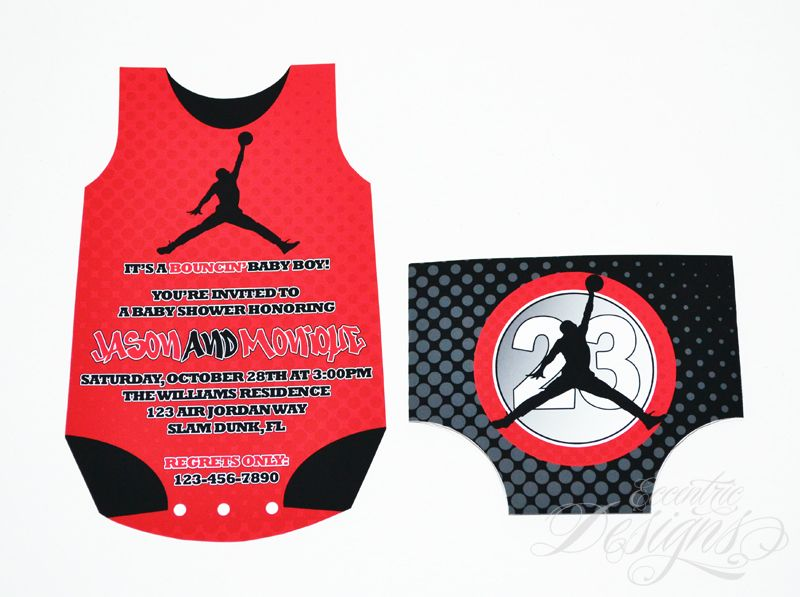 Air Jordan Jumpman Chicago Bulls Michael Jordan Baby – Michael Jordan Birthday Card