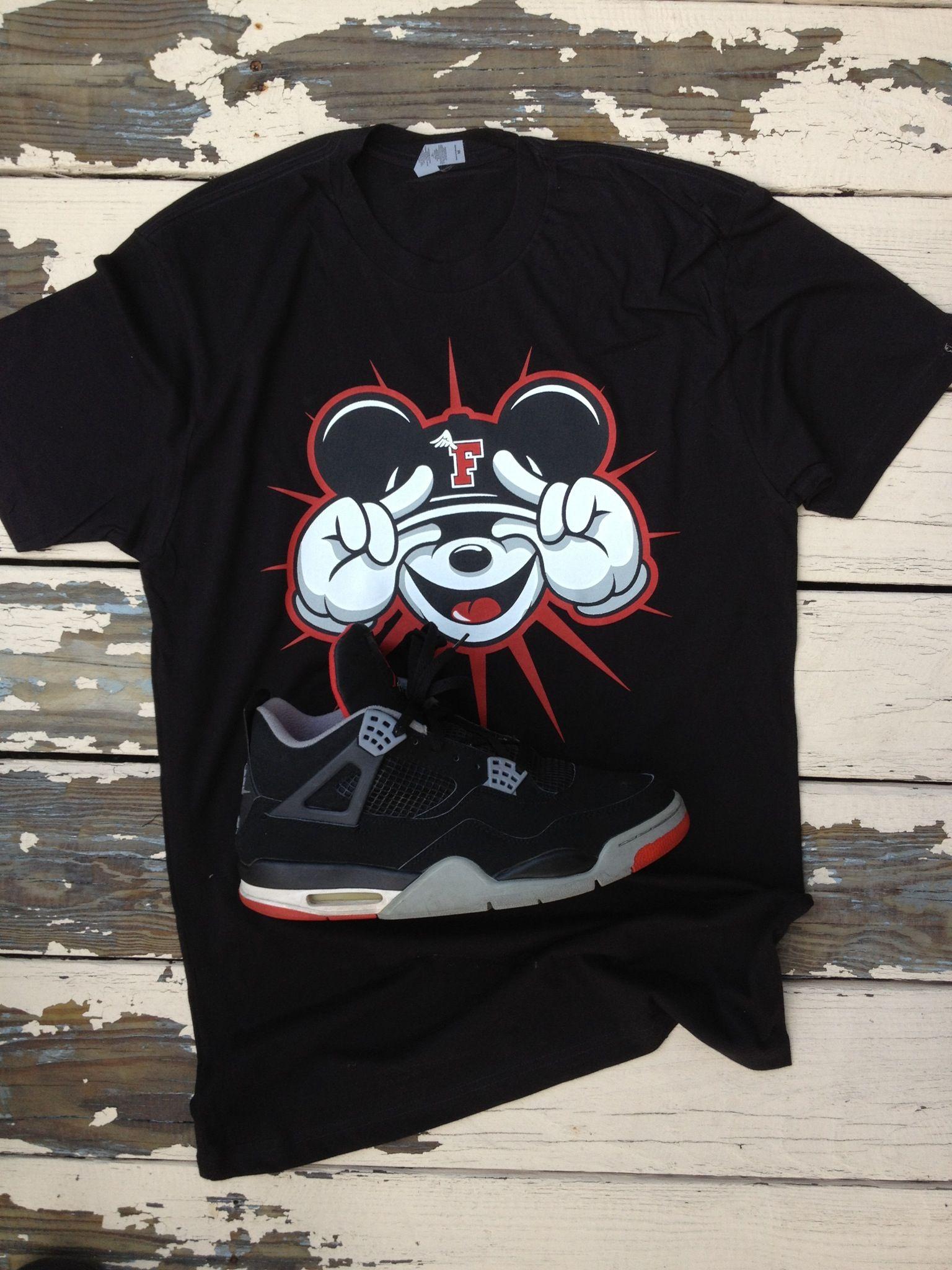T shirt design jordan - Fly Mickey T Shirt Design To Match The Jordan Retro 4 S By Donpdesign Com