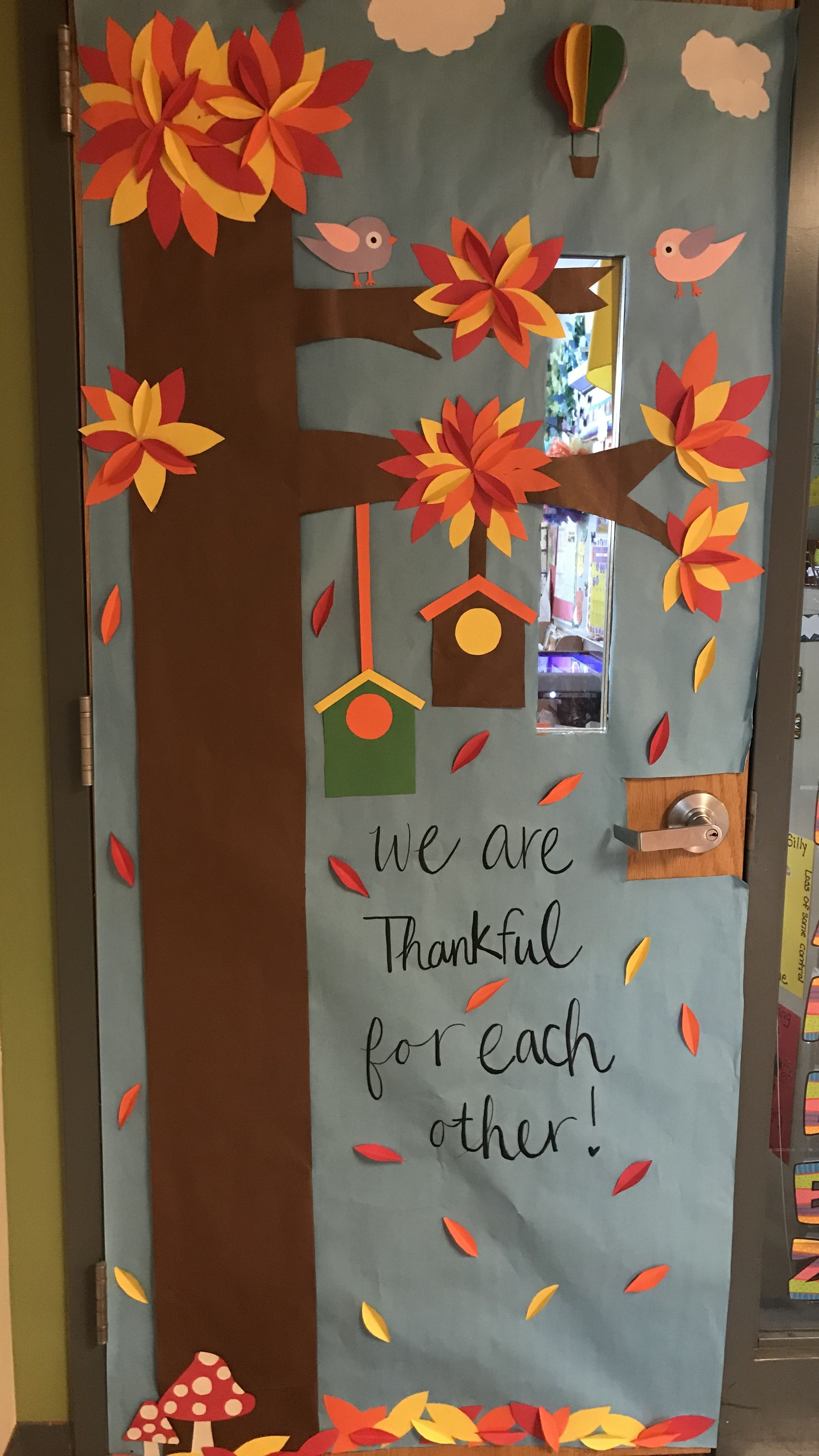 Fall and Thanksgiving Classroom Door
