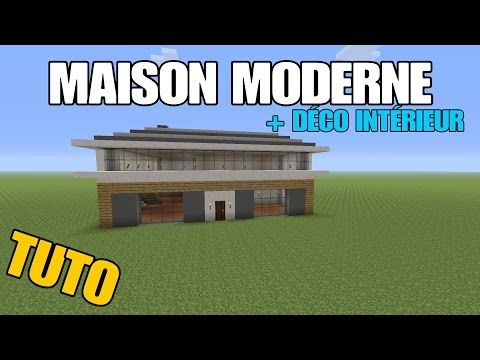 TUTO MAISON MODERNE + DECO INTÉRIEUR - Minecraft PS4 #interieur ...