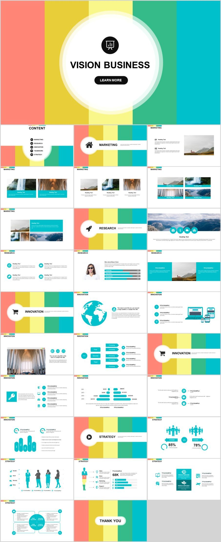 30 business vision design PowerPoint templatesThe highest quality PowerPoint Templates and Keynote Templates download