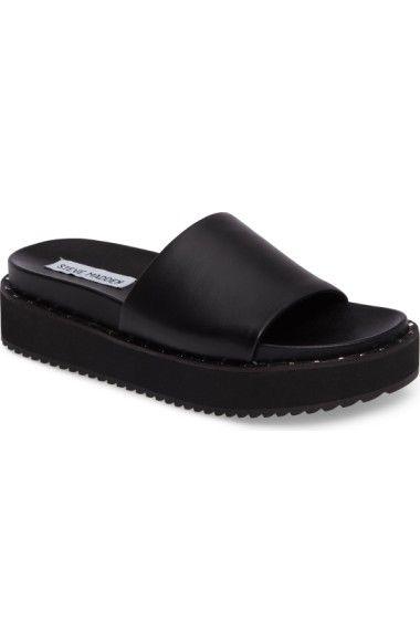 50a9dbd195f STEVE MADDEN Jen Studded Platform Slide Sandal.  stevemadden  shoes  sandals