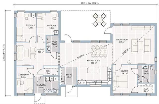 plan maison plain pied en bois