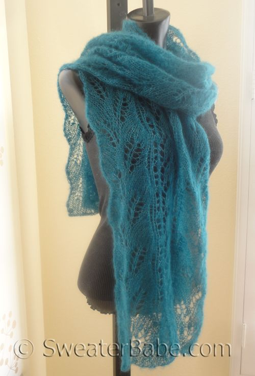 169 Snowdrop and Curved Leaf Lace Scarf PDF Knitting Pattern ...