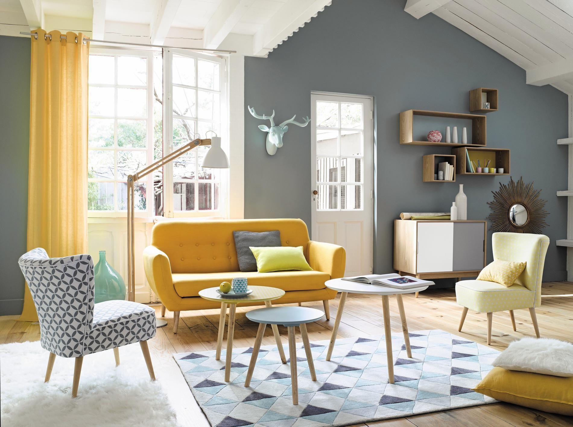 Mieux que le vintage le n o vintage salon int rieur for Living salle a manger moderne
