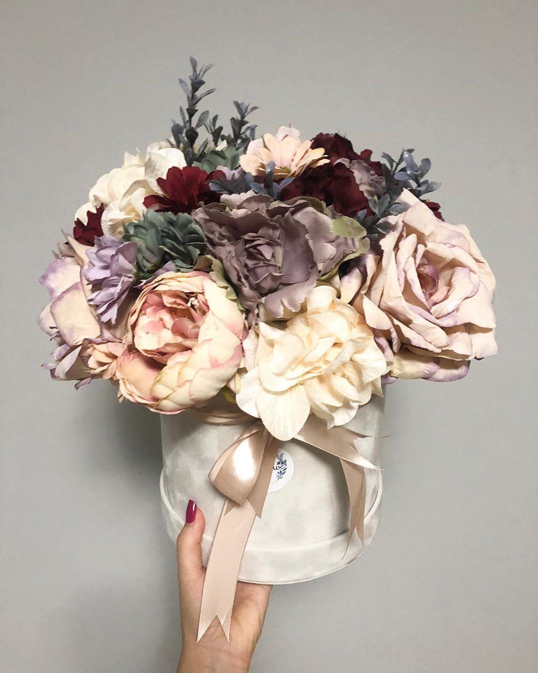 Podziekowania Dla Rodzicow Duzy Welurowy Box Kwiaty Sztuczne Flowerbox Artificalflower Flowers Homedecor Gift Giftidea Fa Floral Wreath Floral Wreaths
