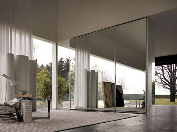 Elegant Raumtrenner Wohnung Loft Stil designer schrank schiebet ren spiegel oberfl che