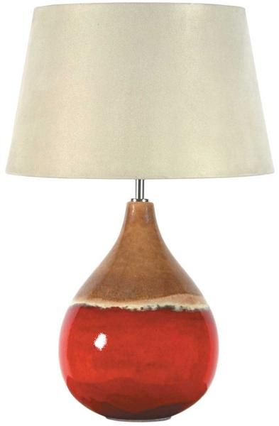 Red Brown Two Tone Ceramic Table Lamp Base Only 111 99