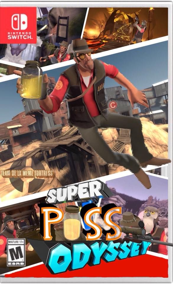 If Super Mario Odyssey And Team Fortress 2 Combined Together