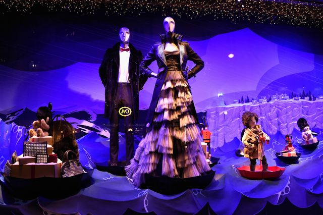 Full look: Burberry's festive window display at Printemps