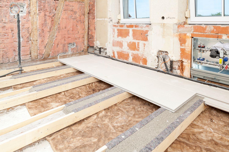 Renovation Ceilings Floors Wooden Construction Knauf Integral Holzbalkendecke Trockenbau Bau Handwerk