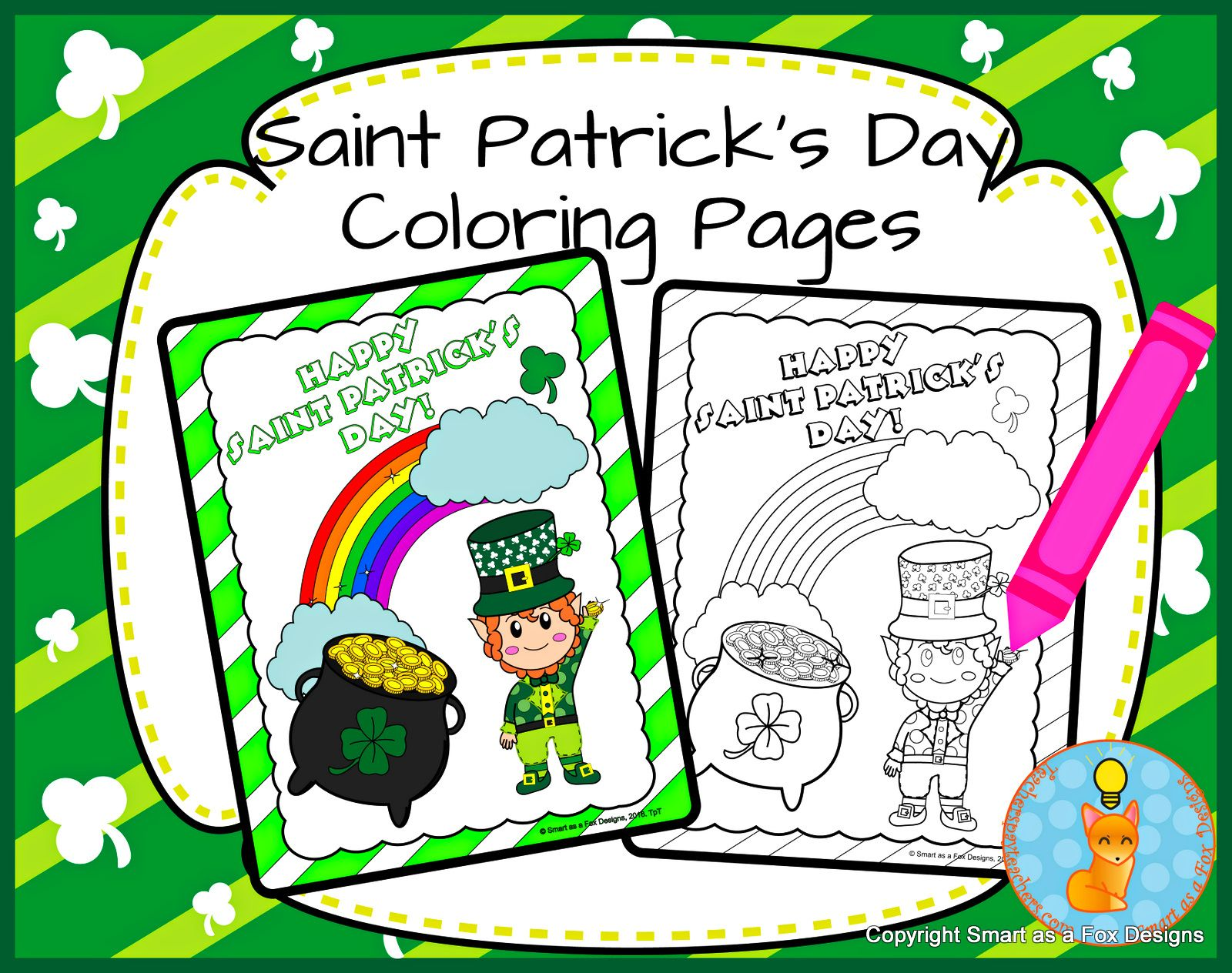 Saint Patrick S Day Coloring Printables By Smart As A Fox
