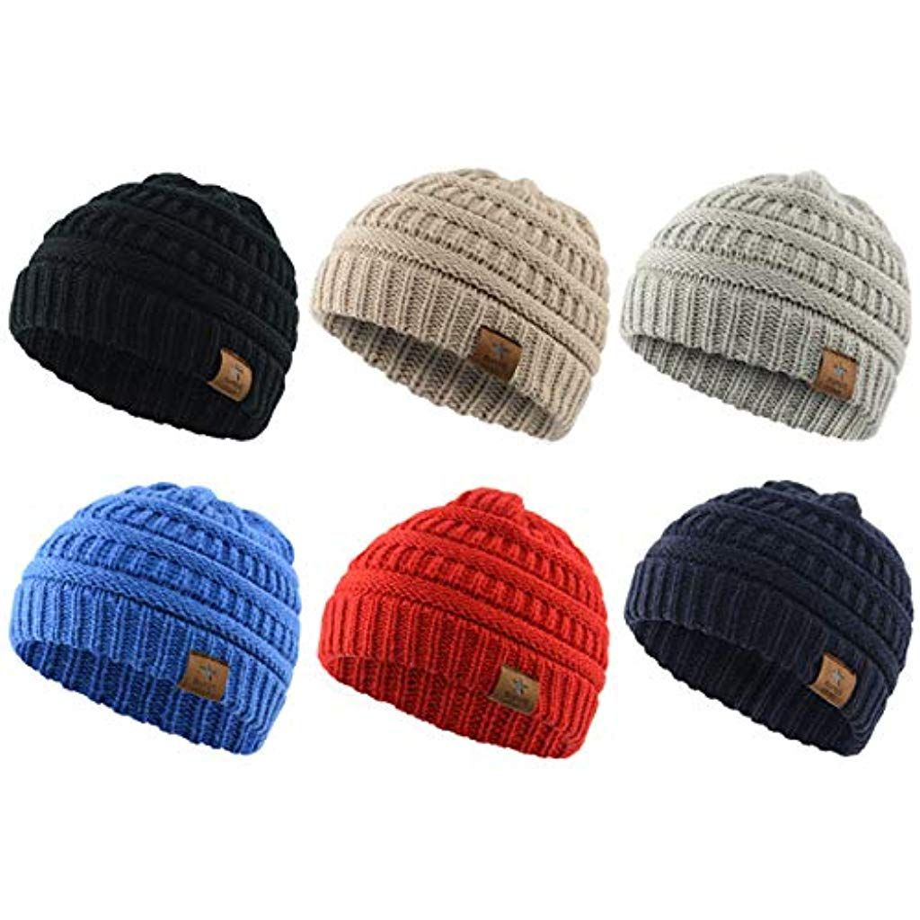 8572d1559 Infant Toddler Winter Hats Warm Knit Baby Beanies Hats Caps for Boys ...