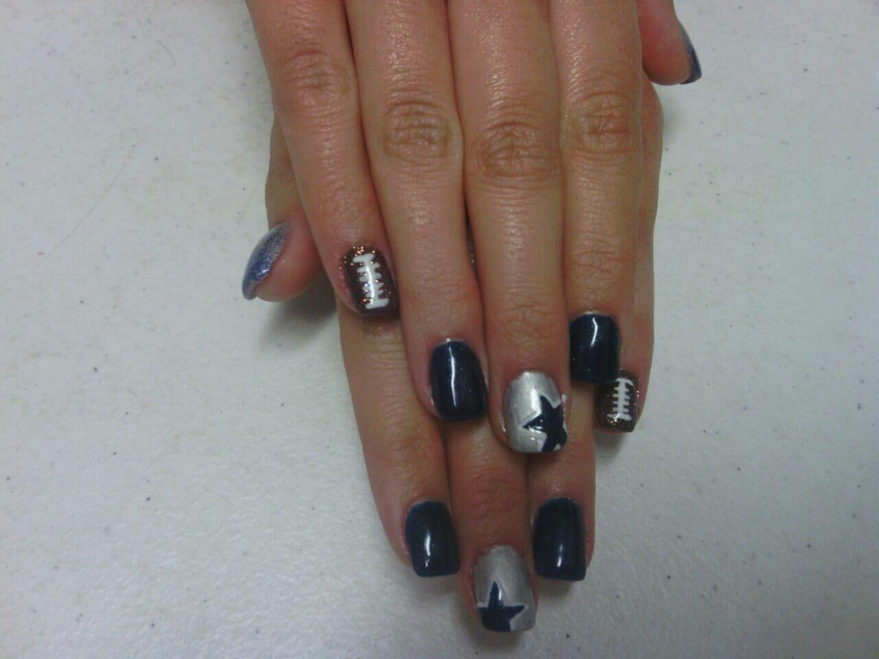 Dallas Cowboys Nails Designs ... … | Pinteres…